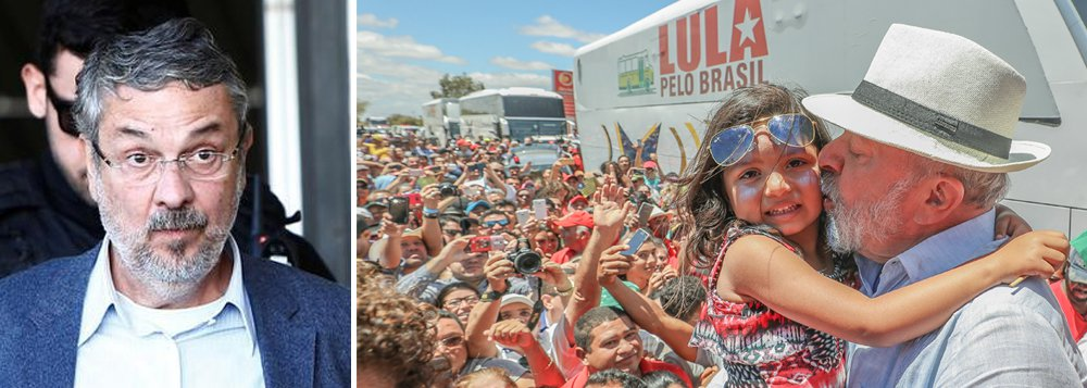"""O ex-ministro Antônio Palocci disse nesta quarta-feira em depoimento ao juiz Sérgio Moro que o PT tinha uma """"pacto de sangue"""" com a Odebrecht, e que o combinado era o partido receber R$ 300 milhões em propina; segundo Adriano Bretas, advogado de Palocci, ele disse ainda que R$ 4 milhões foram dados em dinheiro para o ex-presidente Lula;Palocci também afirmou em depoimento que Lula sabia da compra de um terreno para o Instituto Lula e de um imóvel vizinho ao apartamento do ex-presidente, em São Bernardo do Campo"""