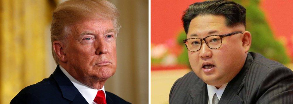 """Presidente dos EUA, Donald Trump, disse que todas as opções estão sobre a mesa para responder à Coreia do Norte, depois que Pyongyang lançou um míssil balístico que atravessou o Japão; """"Ações ameaçadoras e desestabilizadoras só aumentam o isolamento do regime da Coreia do Norte na região e entre todas as nações do mundo. Todas as opções estão sobre a mesa"""", disse Trump"""