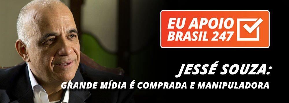 """O sociólogo Jessé Souza, um dos maiores intelectuais brasileiros, autor do premiado """"A elite do atraso"""", também apoia a campanha de assinaturas solidárias do 247. """"Como nós sabemos, uma imprensa livre, plural e autônoma é a pré-condição mais importante para uma democracia verdadeira e atuante.São essas pré-condições que não possuímos hoje no nosso Brasil, uma vez que nossa grande mídia é comercial e comprada pelo dinheiro"""""""