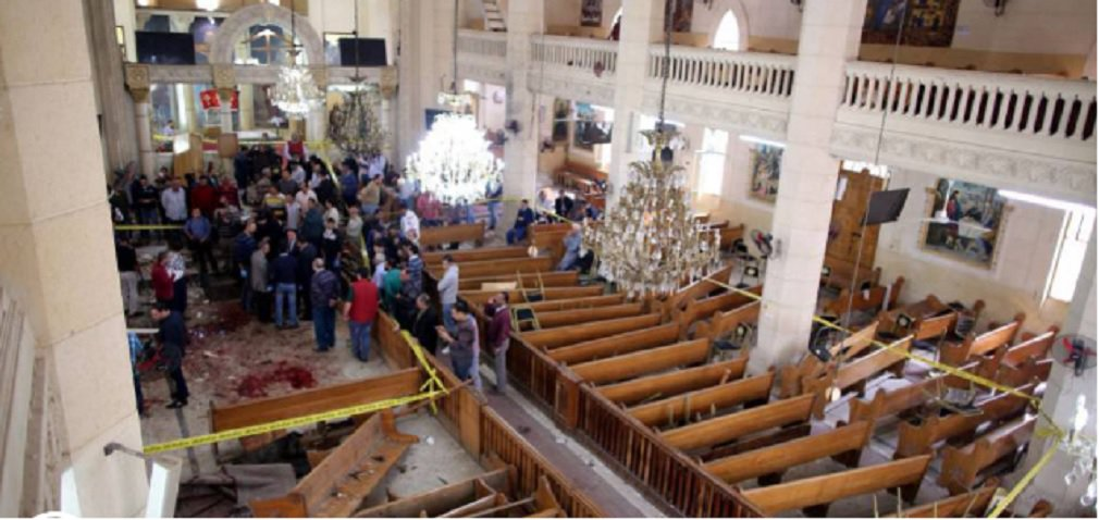 O presidente do Egito, Abdul Fatah al Sisi, anunciou o estabelecimento do estado de emergência no país, depois dos atentados contra duas catedrais do norte de Egito, nos quais morreram pelo menos 44 pessoas e mais de 100 ficaram feridas; em discurso transmitido ao vivo pela emissora de televisão estatal, Al Sisi afirmou que o estado de exceção se estenderá por um período de três meses
