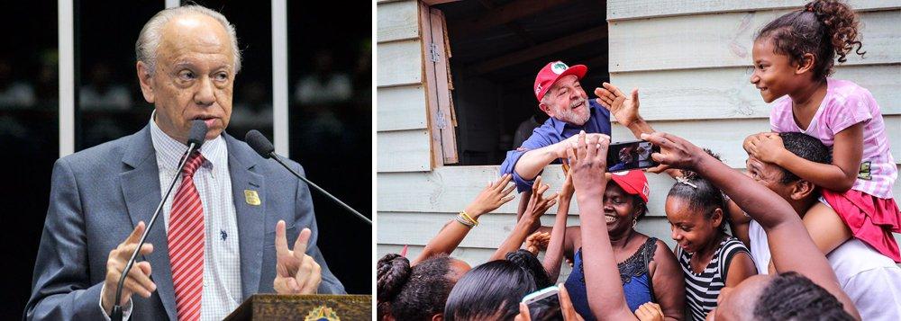 """Membro da Comissão Política Nacional do Comitê Central do Partido Comunista do Brasil (PCB) e ex-presidente da Agência Nacional de Petróleo (ANP), Haroldo Lima afirma que, ante esse impasse de ver Lula liderando as pesquisas eleitorais,""""os que dirigem a frente fascistizante, montada com setores do Judiciário, do Ministério Público e da grande Mídia, optaram então por dar mais um golpe, o de impedir que Lula, o candidato do povo, dispute a eleição (...), mas tendo o cuidado de fazer tudo isso como se estivesse cumprindo a lei, dando a impressão à sociedade que a Justiça está funcionando, que o Supremo está no comando do processo e que a Constituição está sendo respeitada"""""""