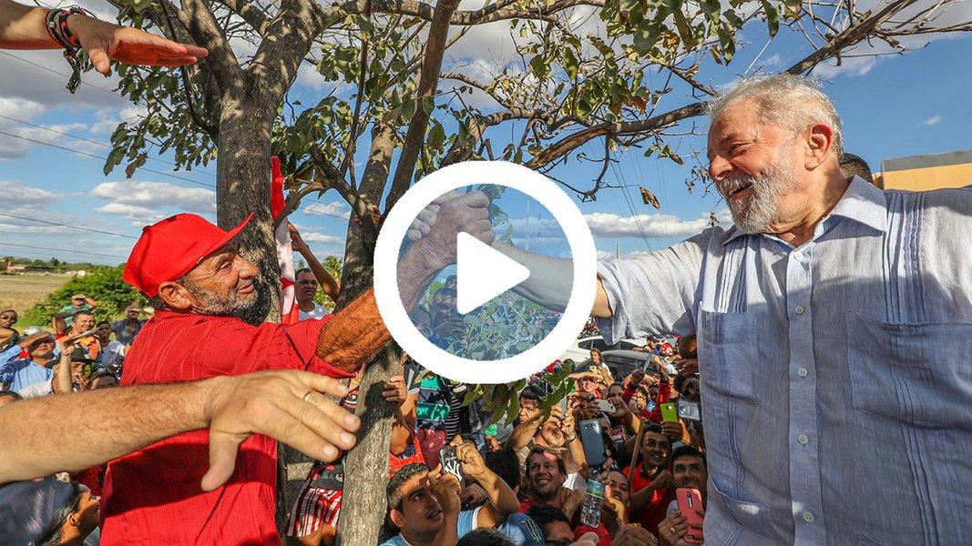 """Em sua propaganda partidária na TV, o Partido dos Trabalhadores mostra um balanço da caravana de Lula pelo Nordeste e faz contrassenso: """"Enquanto eles compartilham o ódio, nós compartilhamos a esperança"""""""