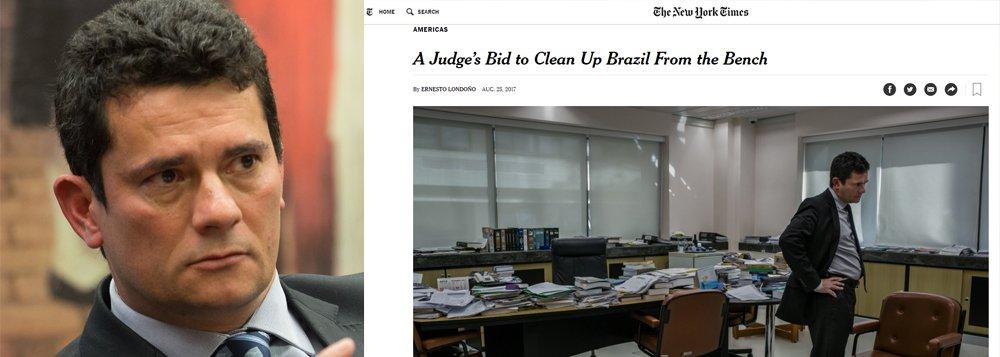 O juiz Sergio Moro disse ao jornal New York Times, em entrevista publicada no último dia 25, que não se arrepende de ter vazado à imprensa o grampo de conversa entre Dilma Rousseff e Lula sobre o termo de posse na Casa Civil. O episódio ocorreu às vésperas da votação do impeachment na Câmara e ajudou a fomentar a tempestade perfeita contra a presidente reeleita em 2014, contribuindo para sua queda e a ascensão de Michel Temer, hoje denunciado por corrupção; Moro chegou a ser repreendido pelo ex-ministro Teori Zavascki à época; leia reportagem do jornal GGN