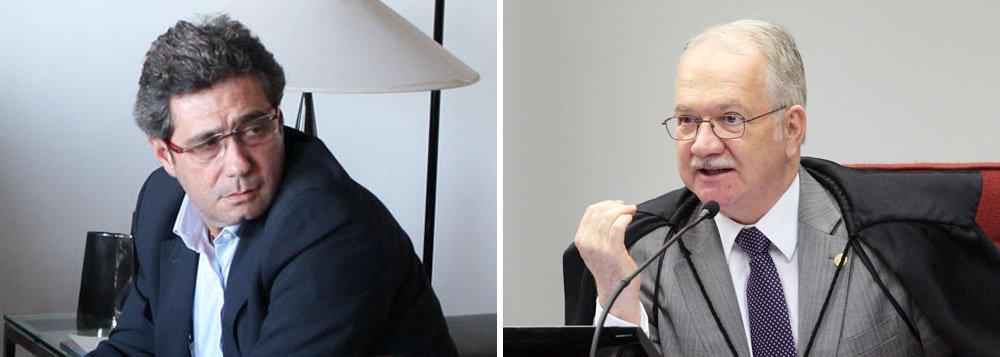 Em claro clima de retaliação contra o relator da Lava Jato no STF, Edson Fachin, deputados apresentaram nesta quinta-feira 1º um pedido para que a Comissão de Constituição e Justiça da Câmara inquira formalmente o ministro, a fim de saber qual exatamente era sua relaçãocom o ex-diretor da JBS Ricardo Saud; 32 deputados assinam o pedido; reportagem do portal Poder360 afirma que Saud ajudou Edson Fachin em candidatura ao STF