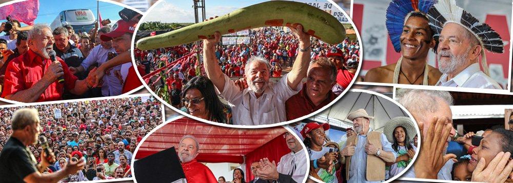 """""""Duvido que alguém dos vivos desta terra tenha doado mais da própria vida ao Brasil, tenha recebido mais títulos de Doutor Onoris Causa, das mais importantes universidades internacionais e nacionais, e, ao mesmo tempo, tenha sofrido mais perseguição política e injustiças do que Lula"""", avalia o colunista Laurez Cerqueira sobre o ex-presidente, que está em caravana pelo Nordeste; """"Ele é o maior líder da história do Brasil, queiram ou não, arrasta multidões de trabalhadores e trabalhadoras por ruas e praças das cidades de norte a sul do país por que quer simplesmente justiça"""", afirma Laurez"""
