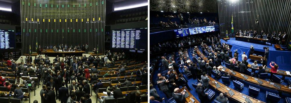 São nove, no total, perdendo apenas parapara São Paulo, com 19 parlamentares; é o que aponta um levantamento do Departamento Intersindical de Assessoria Parlamentar (Diap); mesmo tendo sido fortemente atingido pela delação da JBS, o senador Aécio Neves (PSDB) continua entre os mais influentes, junto com outros parlamentares, dentre eles, Fábio Ramalho (PMDB), Rodrigo Pacheco (PMDB) e Júlio Delgado (PSB); asaída da presidente deposta pelo golpe, Dilma Rousseff, não diminuiu a influência do PT no Congresso. O partido lidera o ranking de legendas com maior número de parlamentares na lista