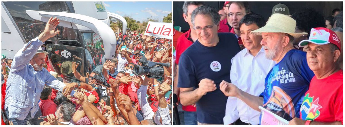 """Em discurso na cidade de Picos, ao lado do ex-presidente Lula, o governador Wellington Dias (PT) afirmou que """"o Brasil vai voltar a crescer e vai precisar de energia""""; """"Eles não podem vender nossa matriz energética"""", criticou, sobre a privatização da Eletrobrás; Dias saiu ainda em defesa de Lula, condenado pela Lava Jato; """"Cada pancada que dão em você, presidente, estão batendo no povo, em cada um de nós"""""""