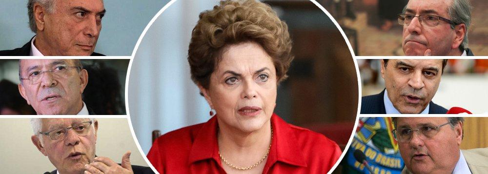 """A entrevista explosiva do empresário Joesley Batista, que apontou Michel Temer como chefe da maior e mais perigosa organização criminosa do Brasil, explica por que Dilma Rousseff, a presidente legítima e honesta, foi derrubada; acusada de ser """"inábil politicamente"""", Dilma era apenas refratária à corrupção endêmica do PMDB; de um lado, Moreira Franco operava nos aeroportos; de outro, Eduardo Cunha e Geddel Vieira Lima atuavam na Caixa Econômica Federal; em paralelo, Michel Temer e Eliseu Padilha conspiravam no Congresso, enquanto Henrique Eduardo Alves recolhia propinas numa das arenas da Copa do Mundo; com o golpe dos corruptos contra a presidente honesta, o Brasil passou a ser comandado diretamente pelo crime e milhões de pessoas perderam seus empregos"""