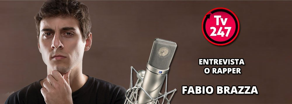 O rapper Fabio Brazza é o entrevistado desta tarde da TV 247; com letras densas e engajadas, Brazza se tornou um dos grandes compositores da nova música brasileira