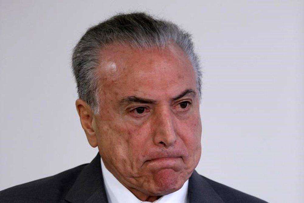 Temer, em evento no Planalto 12/4/2017 REUTERS/Ueslei Marcelino