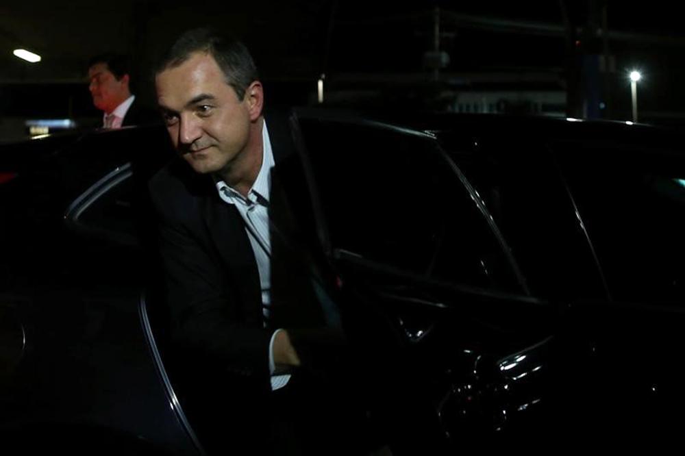 Empresário Joesley Batista depois de prestar depoimento em Brasília 7/9/2017 REUTERS/Adriano Machado