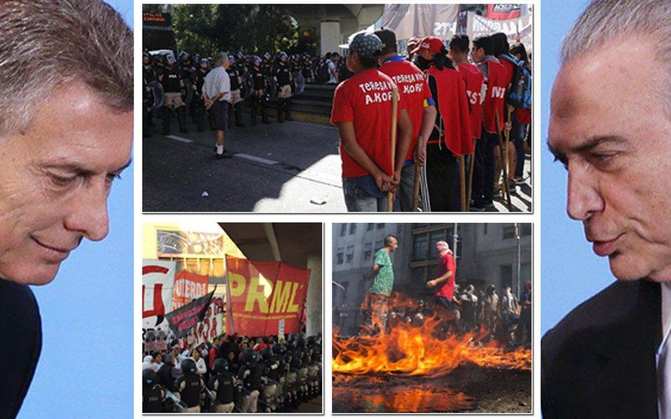 Que a greve geral argentina sirva de inspiração para os brasileiros. Greve geral nos golpistas! Fora Temer!