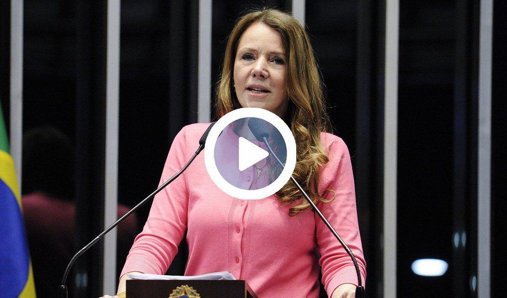 """""""Estamos diante de conspiradores que deram início a destruição do Estado brasileiro. Eles próprios produziram as provas para a defesa da presidenta Dilma no processo que tramita no Supremo Tribunal Federal. Se havia falta de elementos por parte da população brasileira para chegar a essa conclusão, hoje não há mais"""", disse a senadora Vanessa Grazziotin (PCdoB-AM), lembrando a confissão de Michel Temer de que Dilma Rousseff foi golpeada por não ceder à chantagem de Eduardo Cunha"""
