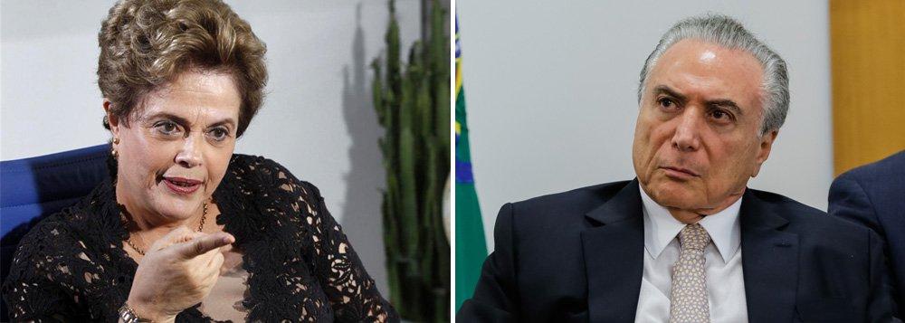 """Presidente deposta Dilmar Rousseff reagiu com ironia nesta terça-feira, 14, ao comentar a desistência de Michel Temer de morar no Palácio do Alvorada, que afirmou ter vistos """"fantasmas"""" no local; """"Morei lá e nunca teve nada disso não. Nunca vi fantasma nenhum"""", disse Dilma, que morou no Palácio do Alvorada entre 2011 e setembro de 2016;""""Aliás, o meu neto ficou lá dos seis meses aos seis anos e também nunca caiu"""", emendou, sobre a reforma, que custou mais de R$ 20 mil, que Michel Temer mandou fazer no Alvorada, descaracterizando sua fachada tombada, para instalar redes de proteção para o filho Michelzinho"""