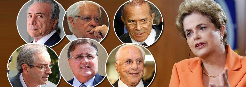 """Em sua entrevista mais contundente, a presidente eleita Dilma Rousseff, deposta pelo golpe parlamentar de 2016, diz que o Brasil passou a ser governado por ladrões, desde que Michel Temer subiu ao poder; sobre Eduardo Cunha, ela afirma que não fez acordo com ele porque seria impossível negociar com um """"gângster inteligente""""; ao falar sobre as perguntas de Cunha a Michel Temer, Dilma é enfática: """"lá está Eduardo Cunha dizendo que quem roubava na Caixa Econômica Federal, no FGTS, é o Temer""""; Dilma também explica por que demitiu Moreira Franco: """"O gato angorá tem uma bronca danada de mim porque não o deixei roubar""""; Dilma também falou sobre outros notórios aliados de Temer, como Eliseu Padilha e Geddel Vieira Lima, e disse que essa turma está lá para assaltar o Estado"""