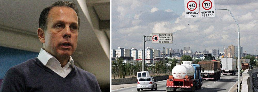 Companhia de Engenharia de Tráfego (CET) registrou 102 acidentes no trecho entre 25 de janeiro – dia que a medida entrou em vigor – e 23 de fevereiro; média de 2016, com as velocidades implementadas na gestão de Fernando Haddad (PT), era de 64 acidentes por mês; o aumento de 60% foi justificado pela gestão Doria pelo aumento do número de agentes de trânsito atuando na região, de 45 para 75, o que teria aumentado o registro de ocorrências