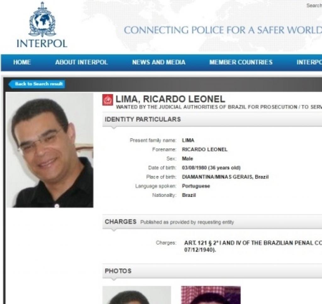 Ricardo Leonel Lima, acusado de matar a ex-namorada em Diamantina (MG), é deportado para o Brasil pela policia poprtguesa