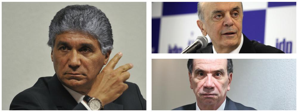 Paulo Preto, José Serra e Aloysio Nunes