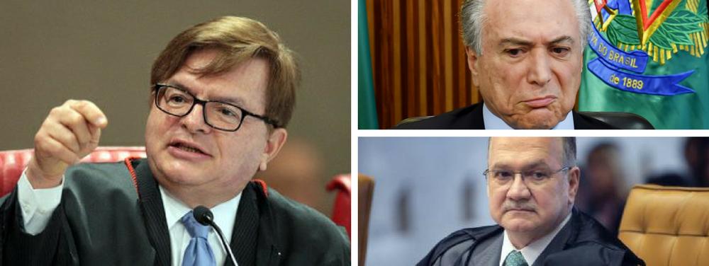 Herman Benjamin, Edson Fachin e Michel Temer