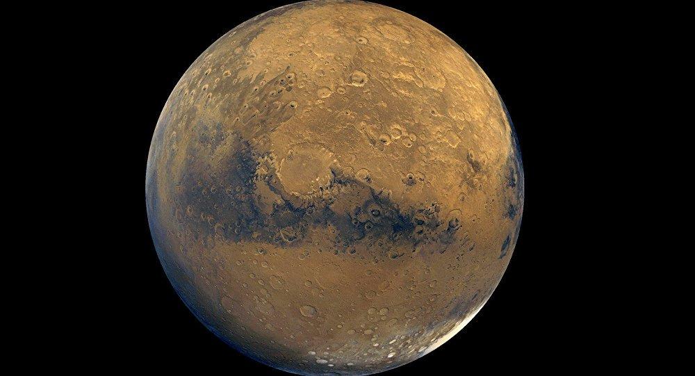 A agência espacial americana publicou uma imagem rara da superfície marciana na qual se pode observar a rocha-mãe do planeta vermelho