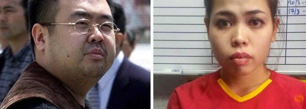"""A jovem indonésia que é acusada de matar Kim Jong-nam, irmão do ditador norte-coreano Kim Jong-um, revelou às autoridades que recebeu US$ 90 pela ação e que ela achava que tudo não passava de uma """"pegadinha""""; segundo o embaixador da Malásia, Andriano Erwin, a jovem Siti Aisyah, 25 anos, disse que achou que o líquido era """"óleo para bebê"""" e não um potente líquido chamado de """"agente VX"""", considerado uma arma de destruição em massa"""