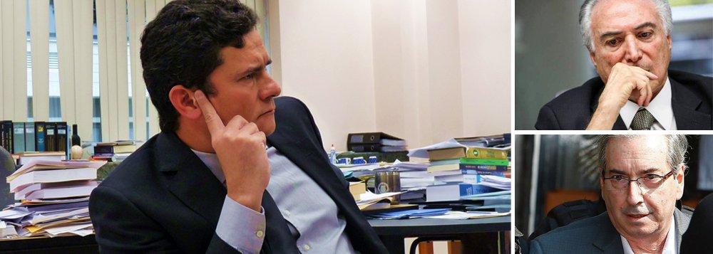 """Na sentença em que negou o pedido de liberdade do deputado cassado Eduardo Cunha (PMDB) o juiz federal Sérgio Moro afirmou que não capitula com nenhuma espécie de """"pressão política"""", ao falar sobre a tentativa de intimidação de Cunha contra Michel Temer;""""Não se pode permitir que o processo judicial seja utilizado para essa finalidade, ou seja, para que parte transmita ameaças, recados ou chantagens a autoridades ou a testemunhas de fora do processo"""", afirmou"""