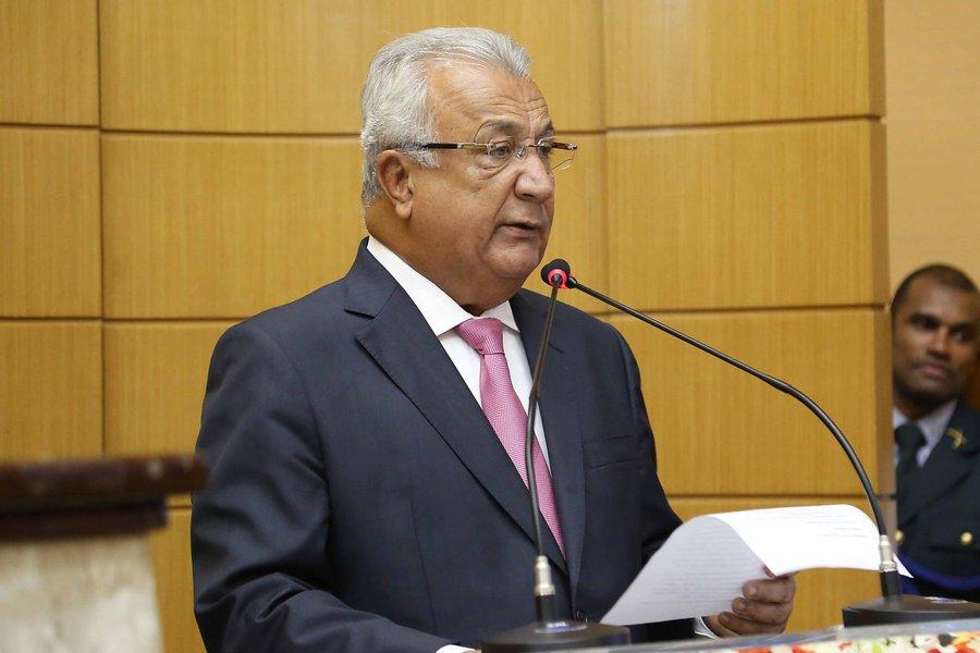 Governador compareceu à Assembleia Legislativa para abertura dos trabalhos legislativos nesta quarta-feira 15, quando também cumpriu o dever constitucional de prestar contas do seu primeiro ano de governo aos deputados estaduais