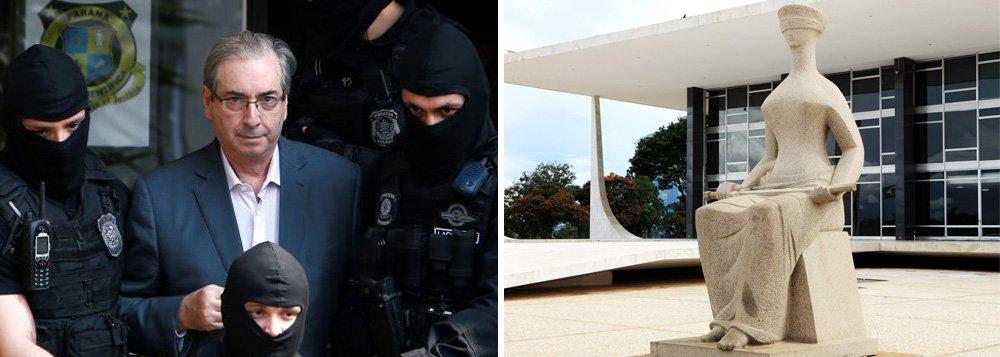Por 8 votos a 1, o plenário do Supremo decidiu pela rejeição do recurso da defesa de Eduardo Cunha que pedia sua soltura; o relator, Edson Fachin, argumentou que oSTF não se manifestou sobre requisitos da prisão preventiva e isso impede a utilização da reclamação, instrumento da defesa; antes de chegar ao plenário da corte, o recurso havia sido rejeitado pelo ministro Teori Zavascki, antigo relator da Lava Jato, que morreu em acidente de avião no mês passado; Cunha está preso em Curitiba desde outubro passado
