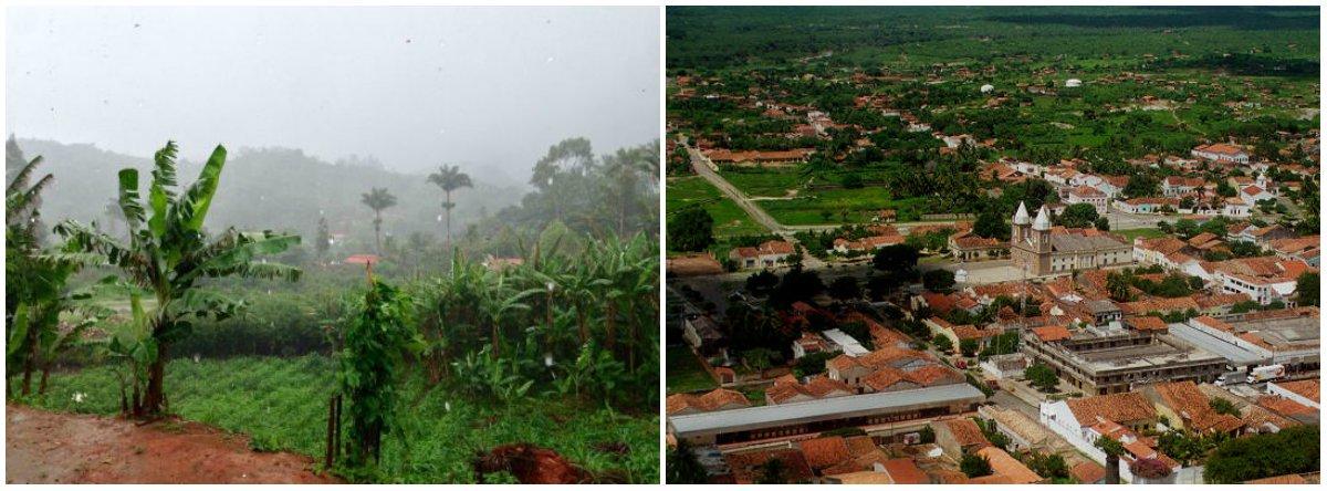 A maior quantidade de água foi em Granja, Região Norte do Ceará, com 75 milímetros (foto à dir), de acordo com a Fundação Cearense de Meteorologia e Recursos Hídricos (Funceme)