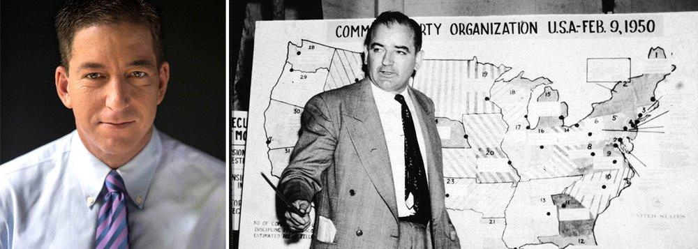 """""""Dois pontos fundamentais a serem destacados: 1) o segredo para manter a população com medo de adversários externos é representá-los como se fossem poderosos e onipresentes; e 2) uma vez enraizada a caracterização, poucos estarão dispostos a questionar a propaganda por medo de serem acusados de defender o Mal Externo"""", diz Glenn Greenwald, ao comentar a russofobia americana"""