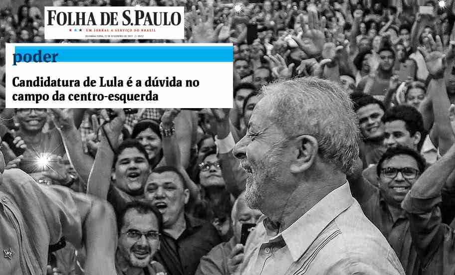 """Com medo do """"sapo barbudo"""", o jornal Folha de S. Paulo especula nesta segunda (27) a possibilidade de Lula não disputar 2018. Os Frias, donos da Folha, devem ter comido alfafa estragada"""