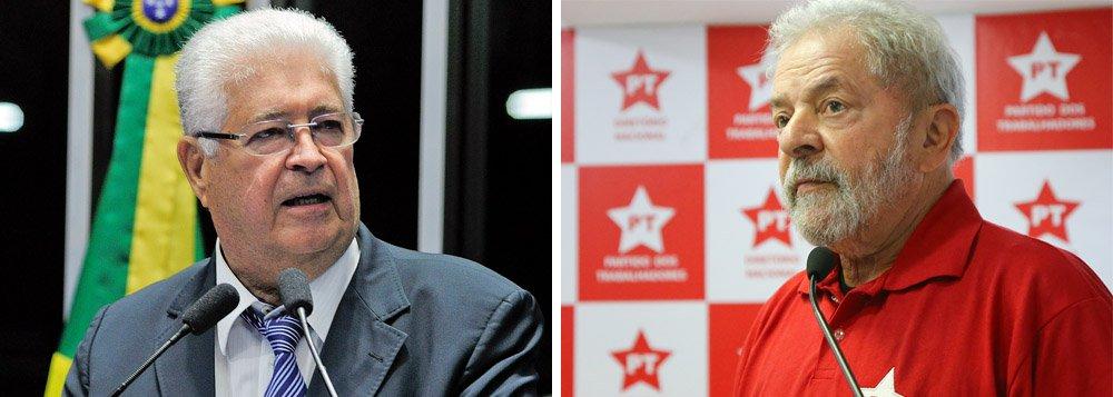 """""""Não havia razão para não nomear nem um nem outro. Mas o tratamento diferenciado em relação a Lula é tristemente inaceitável. JUSTIÇA?"""", questiona o senador Roberto Requião (PMDB-PR) em seu Twitter, sobre a decisão do ministro Celso de Mello que manteve Moreira Franco no cargo de ministro"""