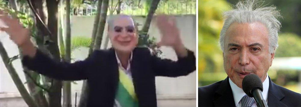 No Rio Grande do Sul, no Rio de Janeiro, em São Paulo, na Bahia, em Pernambuco, enfim, Temer está na boca do povo, nos blocos, na manifestação popular; o 'Fora Temer' virou febre, hit de sucesso até em marchinhas de carnaval; no meio da alegria e da empolgação do carnaval, o brasileiro tira um tempo para lembrar e gritar que não está satisfeito com a quadrilha que se apossou, sem o voto popular, do governo; veja vídeos