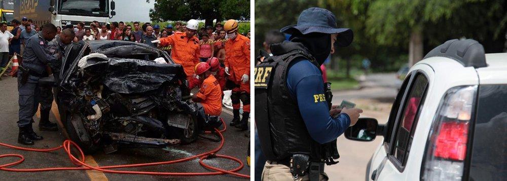 Em apenas três dias de carnaval o índice de mortes nas rodovias federais do Maranhão já é superior ao de 2016 em 42,85%; segundo a Polícia Rodoviária Federal (PRF), dez mortes foram registradas; ultrapassagem indevida, desatenção e excesso de velocidade estão entre as causas dos acidentes com vítimas fatais