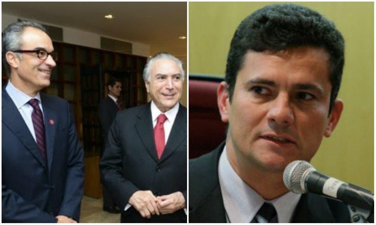 """Para Miguel do Rosário, o objetivo é fazer """"uma dobradinha. Alexandre de Moraes 'controla' a Lava Jato no Supremo, e Sergio Moro 'controla' em Curitiba. Centra-se fogo no PT, prende-se Lula e ponto final""""; para ele, """"a docilidade quase servil de Moro diante do ex-presidente FHC, por ocasião de seu depoimento em defesa de Lula, mostra que o PSDB, de maneira geral, não corre mais grandes riscos na Lava Jato""""; """"Quem manda é o STF, que por sua vez obedece à Globo, que é um braço do imperialismo americano no Brasil"""", diz ele"""