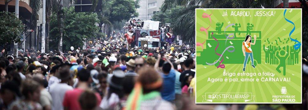 """Após revolta por postagem no Facebook que relativizava o assédio sexual contra as mulheres durante o carnaval, a prefeitura do São Paulo reconheceu o erro e, em nova publicação, pediu desculpas e passou a afirmar o apoio no combate aos abusos; na quarta-feira (22), a comunicação que desagradou internautas trazia a exclamação """"Já acabou, Jéssica!"""" (uma referência ao meme """"já acabou, Jéssica?"""", em que duas garotas brigam na rua), acrescida da mensagem """"Briga estraga a folia. Agora é paz, amor e Carnaval""""; postagem foi interpretada como sugestão para que as mulheres se calassem frente ao assédio durante a folia e ignorassem qualquer abuso"""