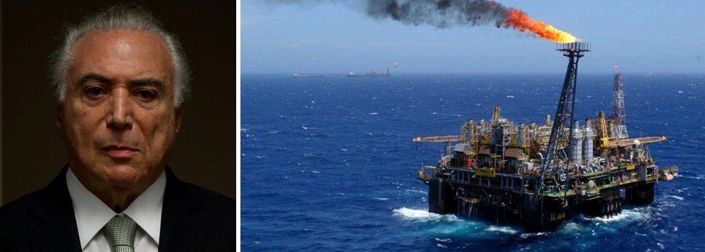 """""""Depois de liberarem a operação do Pré-Sal para as empresas estrangeiras, acabando com a participação mínima da Petrobras nos blocos exploratórios, agora reduziram em 50% a exigência de conteúdo local para a contratação de equipamentos e serviços pela indústria de petróleo"""", diz nota da Federação Única dos Petroleiros; """"As multinacionais sempre deixaram claro que queriam se apropriar não só do Pré-Sal, como de toda a sua cadeia produtiva""""; eis o legado de Temer"""
