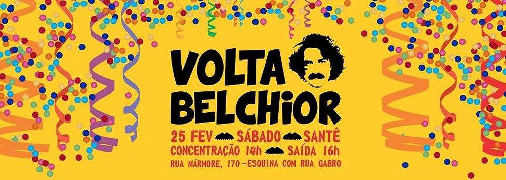 """Em Belo Horizonte os fãs de Belchior levantam o estandarte pela volta do cantor de clássicos como """"Velha Roupa Colorida"""", """"A Palo Seco"""" e """"Sujeito de Sorte""""; e estas são só algumas das músicas que tocam no bloco adaptadas para ritmos como afoxé, reggae e frevo; """"Belchior levou a filosofia e o materialismo dialético para a Música Popular Brasileira, entendendo a arte como instrumento de conscientização e transformação social"""", diz o organização do bloco"""