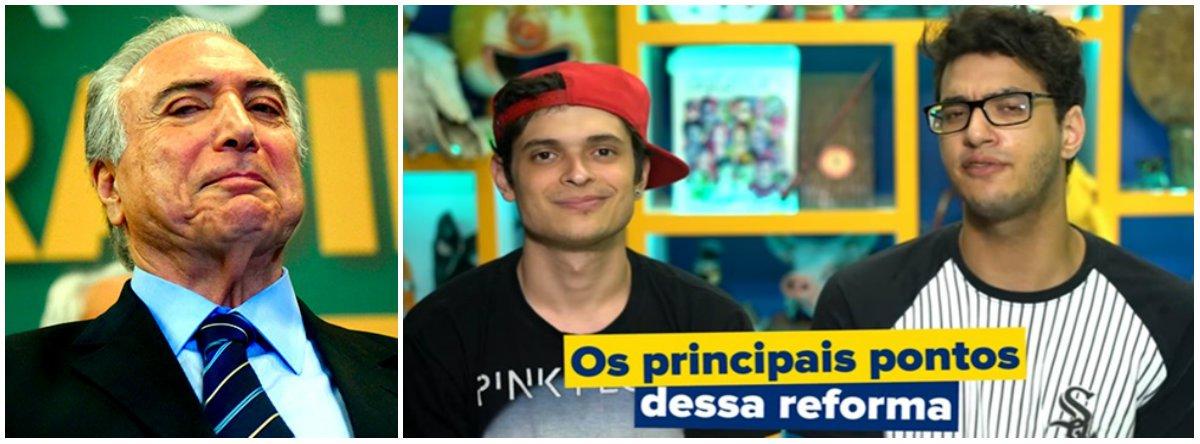 """""""Esses rapazes estão sendo pagos com dinheiro público para enganar o público"""", observa o jornalista Kiko Nogueira, do Diário do Centro do Mundo; """"Não há qualquer aviso de que a discurseira é um comercial. É um estelionato"""", completa"""