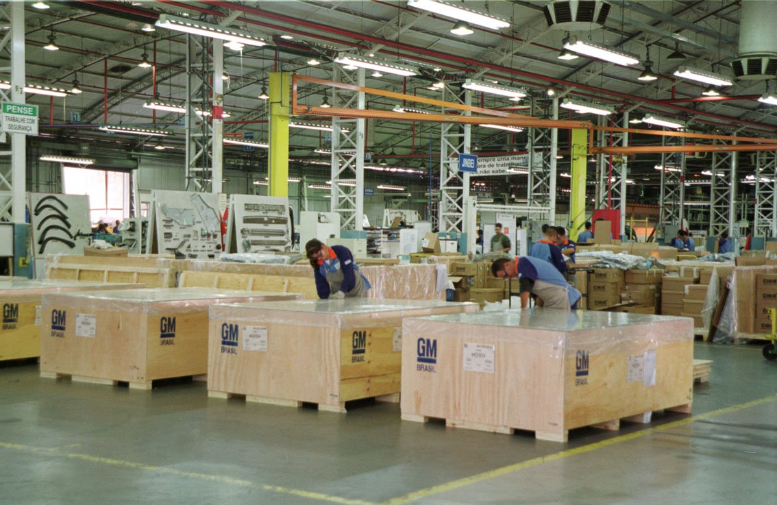 fábrica, embalagens
