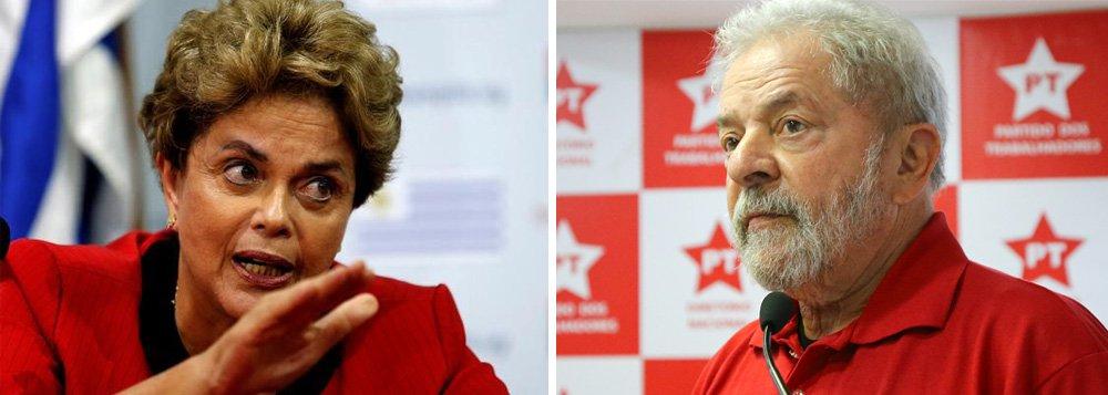 """""""Querem destruir o Lula"""", disse a presidente deposta Dilma Rousseff, em Genebra, em conferência sobre direitos sociais na América do Sul; segundo ela, isso pode ocorrer por três meios: """"Podem tentar condenar o Lula por duas vezes (o que impede sua candidatura); podem mudar as regras da eleição presidencial, por exemplo, com introdução do Parlamentarismo; e terceiro, podem simplesmente adiar a eleição presidencial do ano que vem"""""""