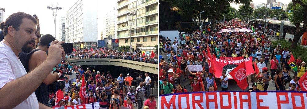 O MTST fez na noite dessa quarta-feira, 15, uma manifestação com aproximadamente 30 mil pessoas na Avenida Paulista; ato foi convocado para protestar contra o fato de que 84% das pessoas que precisam de habitação no Brasil estão na chamada Faixa 1, com renda familiar de até R$ 1,9 mil, mas foram esquecidas pelo governo Temer