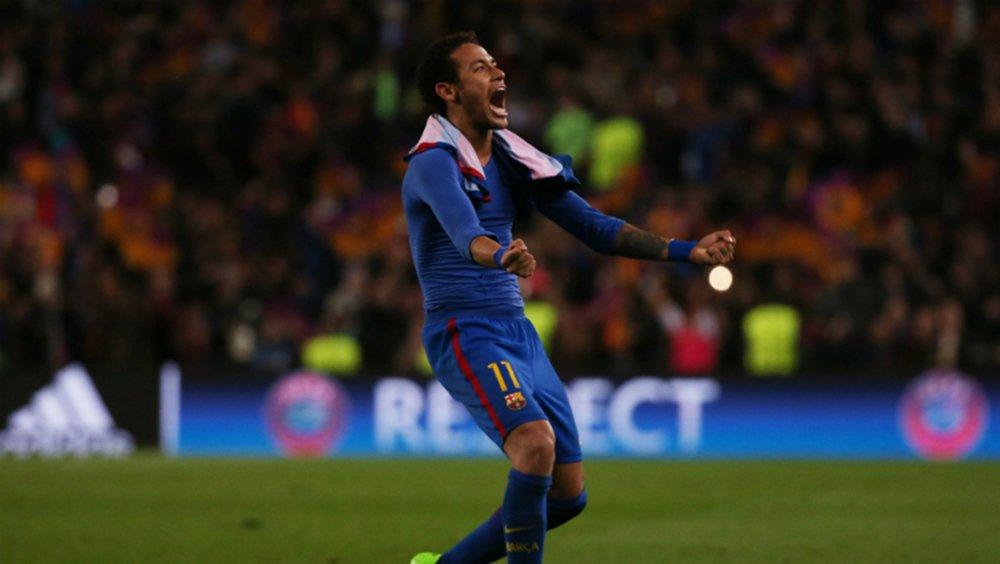 O Barcelona conseguiu nesta quarta-feira uma classificação histórica para as quartas de final da Liga dos Campeões ao golear o Paris Saint Germain por 6 x 1, no Camp Nou, com três gols nos últimos minutos, dois deles de Neymar