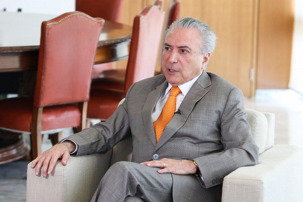 (Brasília - DF 16/01/2017) Entrevista para a agência Reuters. Foto: Alan Santos/PR