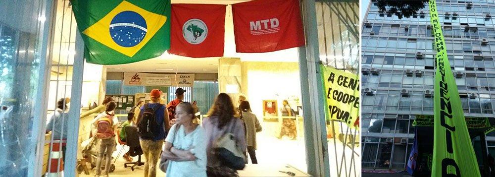 Mais de 1.500 pessoas ocuparam na madrugada desta quarta-feira (15/03) a sede do Ministério da Fazenda, na Esplanada dos Ministérios, em Brasília. A ação faz parte do Dia Nacional de Mobilização e Paralisação Contra a Reforma da Previdência, organizada por movimentos sociais do campo e da cidade que integram as frentes Brasil Popular e Povo Sem Medo