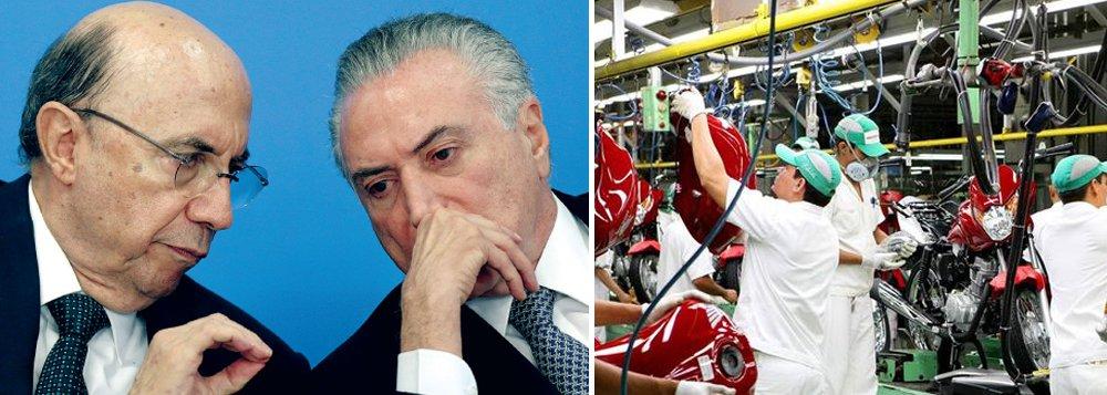 """A economia brasileira foi destruída pelo golpe parlamentar de 2016; de acordo com dados do Banco Central, divulgados nesta quinta-feira, 16, a retração econômica produzida por Michel Temer e Henrique Meirelles foi ainda mais aguda, com queda de 4,55%; desastre do ano passado se soma ao de 2015, quando PMDB e PSDB se aliaram para promover a política do """"quanto pior, melhor"""" para derrubar Dilma Rousseff; nesses dois anos em que o Brasil foi governado pelo golpismo, a economia encolheu 10% e demitiu 5 milhões de trabalhadores"""