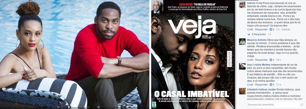 """Os atores, conhecidos pela luta pela igualdade racial, não foram bem recebidos pelo público da revista: """"Mimimi"""", """"Esse pessoal só vive se fazendo de vítima"""", """"Pauta de esquerda"""", """"Coitadismo"""", """"Mania de procurar racismo em tudo"""""""