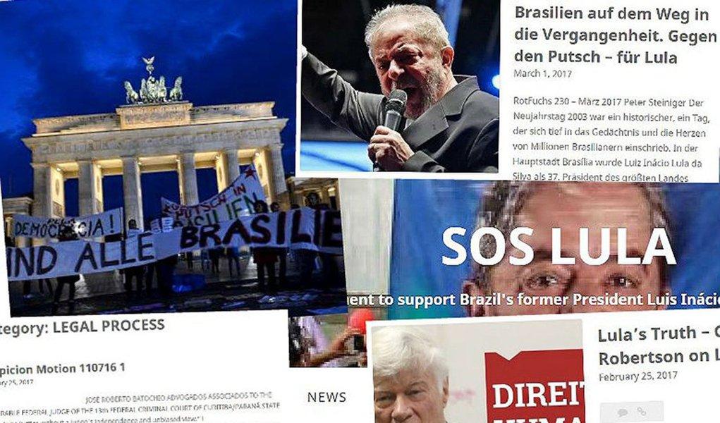 Cidadãos brasileiros residentes em Berlim organizam-se pela defesa do ex-presidente Lula contra a caçada judicial que o ex-presidente vem sendo vítima; grupo lançou um manifesto e um site – SOS Lula –, em que expõe as motivações para a iniciativa, lista notícias e artigos publicados pela imprensa internacional sobre o tema, além de angariar apoios;