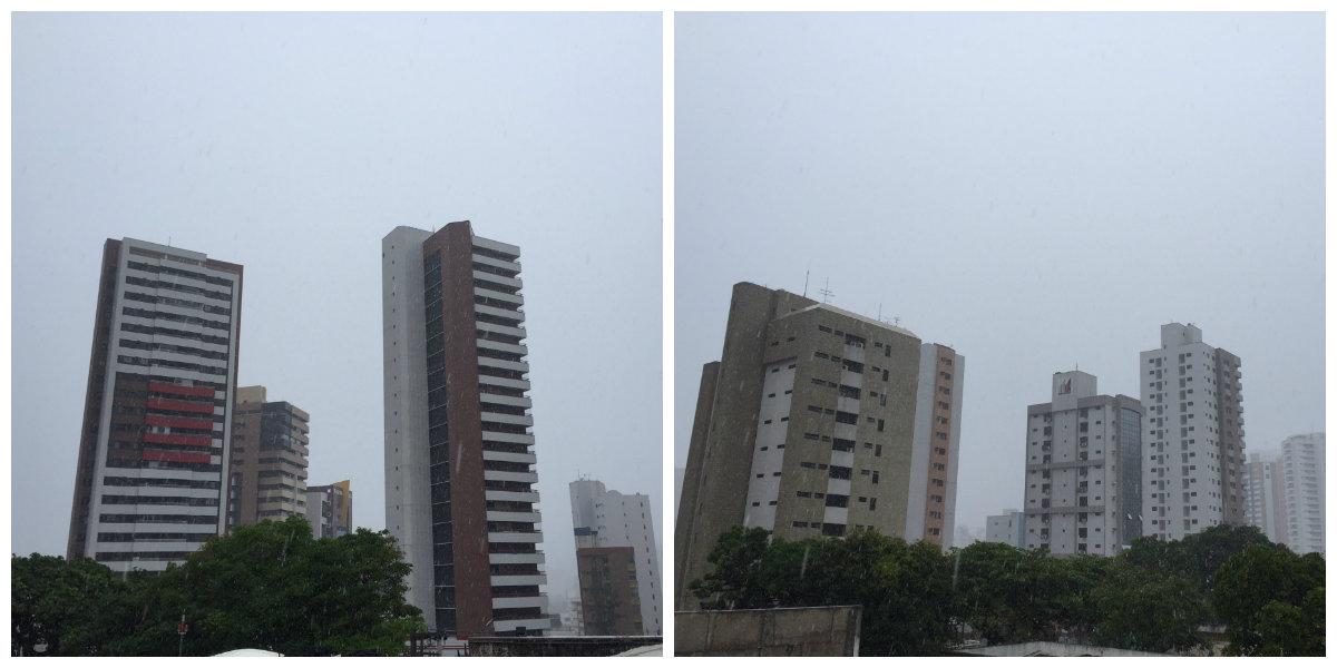 O Instituto Nacional de Pesquisas Espaciais (Inpe) registra que Fortaleza apresentará chuvas de curta duração durante todo o dia, podendo ser acompanhada de trovoadas a qualquer hora. A previsão da Funceme é de nebulosidade variável com chuvas em todas as regiões do Ceará ao longo do dia