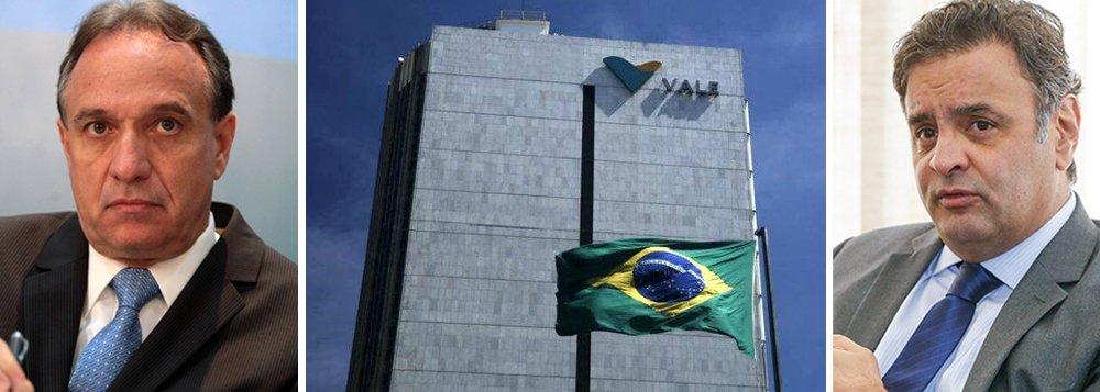 Um dos principais líderes da deposição de Dilma Rousseff, o senador Aécio Neves (PSDB-MG) tenta agora um segundo golpe, dessa vez, na presidência da Vale; o presidente nacional do PSDB tem atuado nos bastidores para indicar o sucessor de Murilo Ferreira no comando da Vale. Ele pressiona o Palácio do Planalto pelo cargo, que fica em aberto daqui a três meses, quando termina o mandato do executivo; a ofensiva do tucano desperta grande incômodo nos sócios privados da mineradora, que já admitem o que era impensável alguns meses atrás: a permanência de Ferreira por mais dois anos